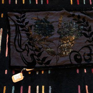 Velvet burnout jewel tone scarf from Nordstrom NWT